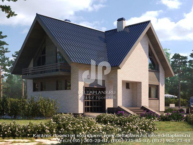 Пенобетонный дом. Проект № D-152-1P