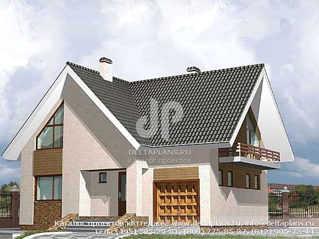 Пенобетонный дом. Проект № D-152-2P