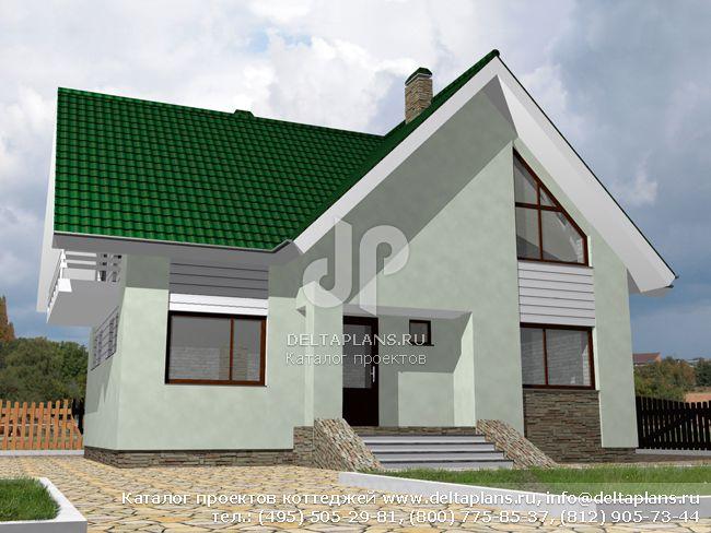 Пенобетонный дом. Проект № D-152-3P