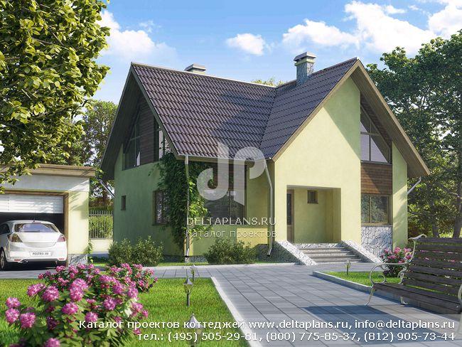 Пенобетонный дом. Проект № D-152-4P