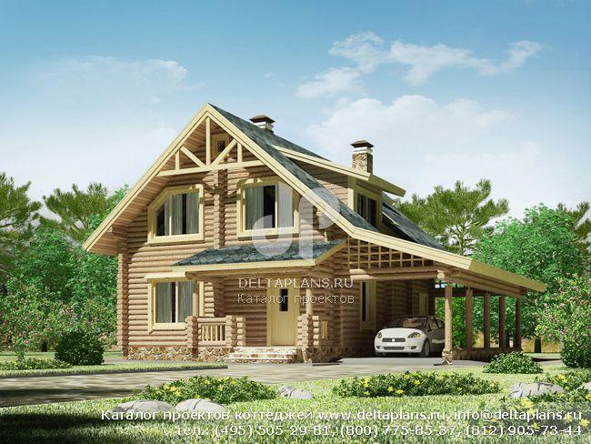 Деревянный дом. Проект № D-153-1D