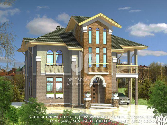 Пенобетонный дом. Проект № D-154-2P