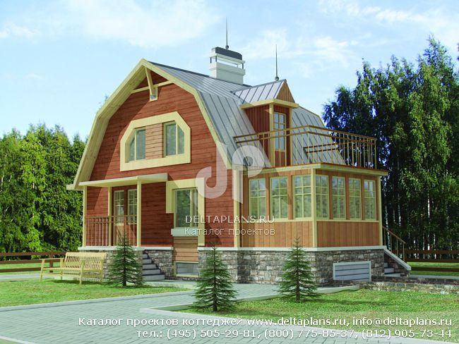 Деревянный дом. Проект № D-172-1D