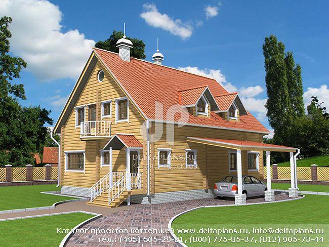 Деревянный дом. Проект № D-175-1D