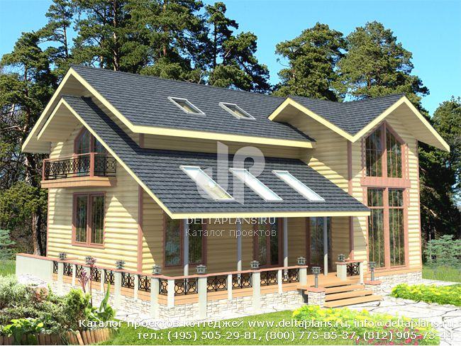 Деревянный дом. Проект № D-181-1D
