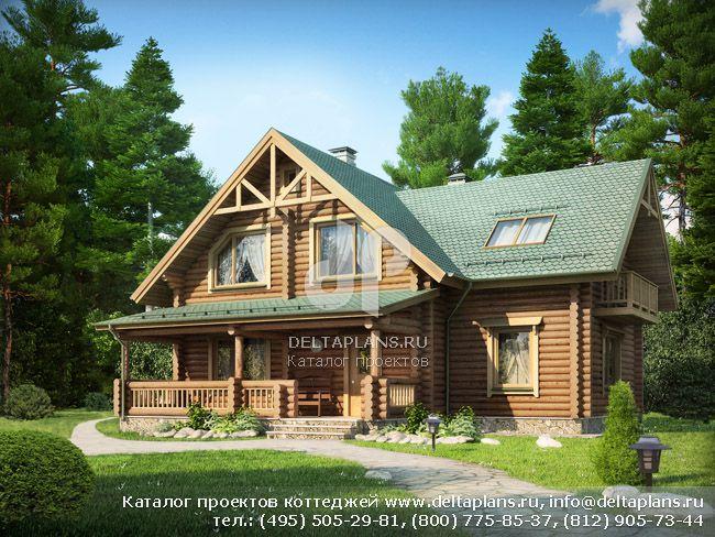 Деревянный дом. Проект № D-185-1D