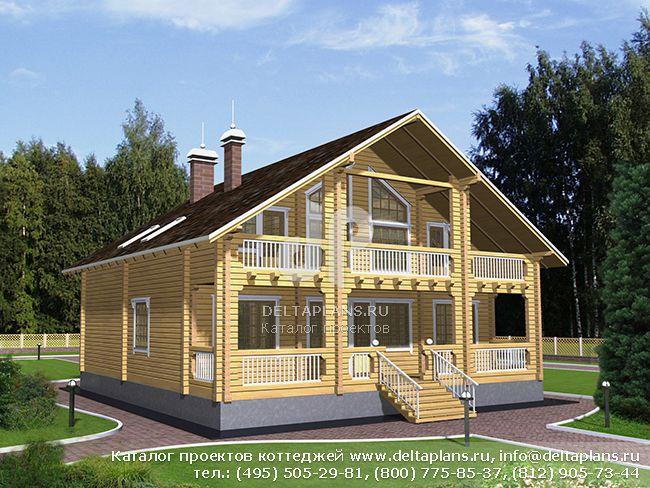 Деревянный дом. Проект № D-213-1D