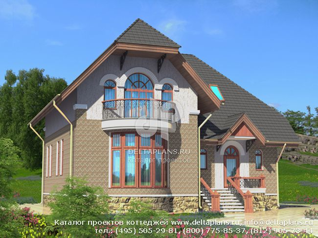 Пенобетонный дом. Проект № D-244-1P