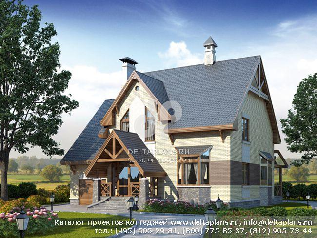 Пенобетонный дом. Проект № D-253-1P