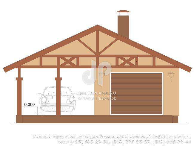 Кирпичный дом. Проект № E-054-1K
