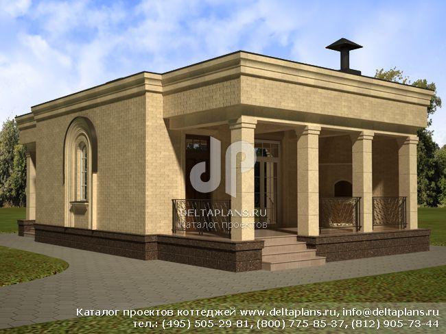 Кирпичный дом. Проект № E-080-1K