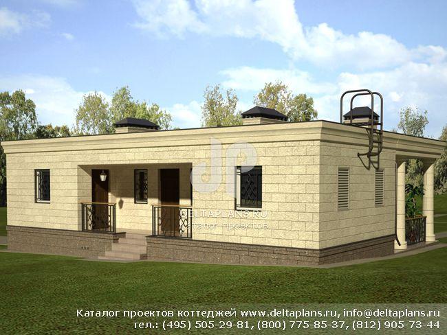 Кирпичный дом. Проект № E-104-1K
