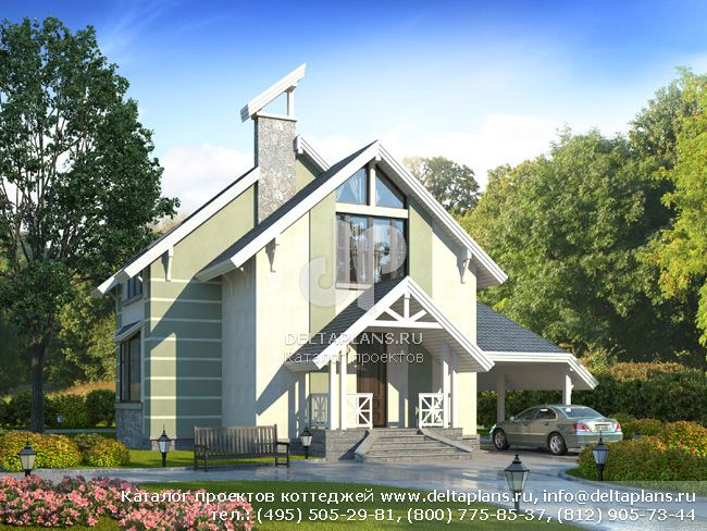 Пенобетонный дом. Проект № E-133-1P