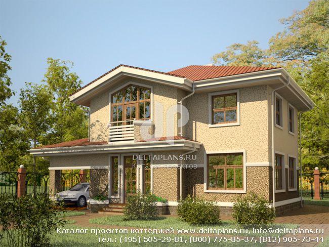 Пенобетонный дом. Проект № E-167-1P