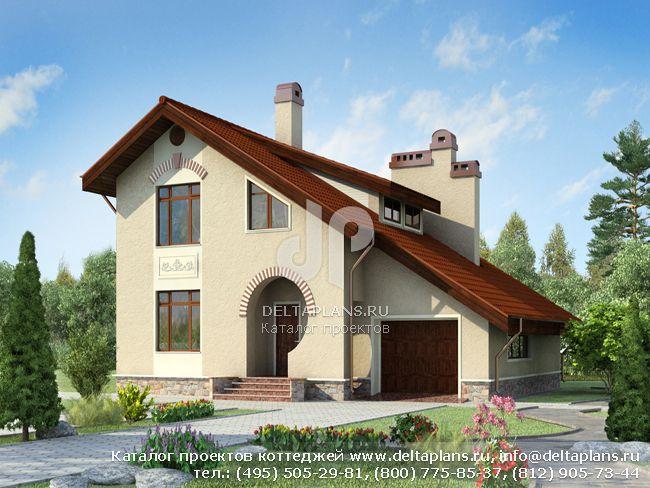 Пенобетонный дом. Проект № E-171-1P