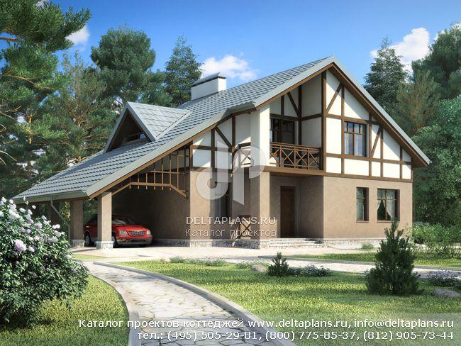 Пенобетонный дом. Проект № E-184-1P