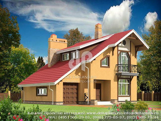 Пенобетонный дом. Проект № E-188-1P