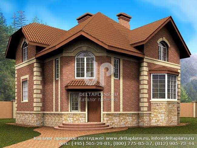 Кирпичный дом. Проект № E-190-1K