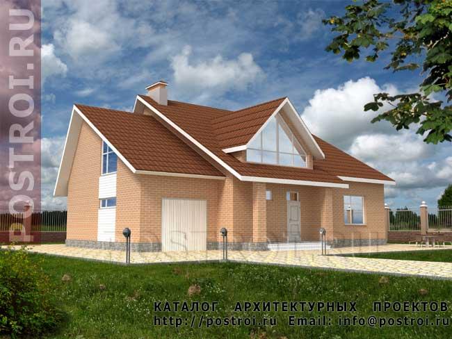Кирпичный дом. Проект № E-192-1K