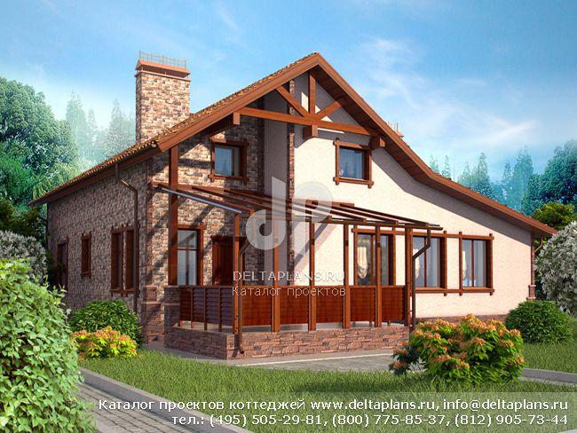 Кирпичный дом. Проект № E-211-1K