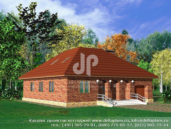 Кирпичный дом. Проект № E-220-1K