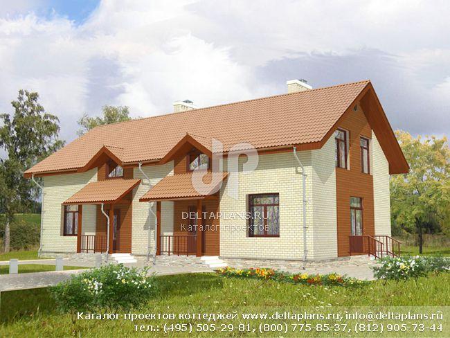 Пенобетонный дом. Проект № E-283-1P