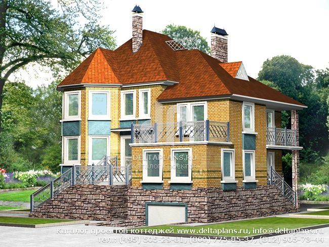 Пенобетонный дом. Проект № E-359-1P