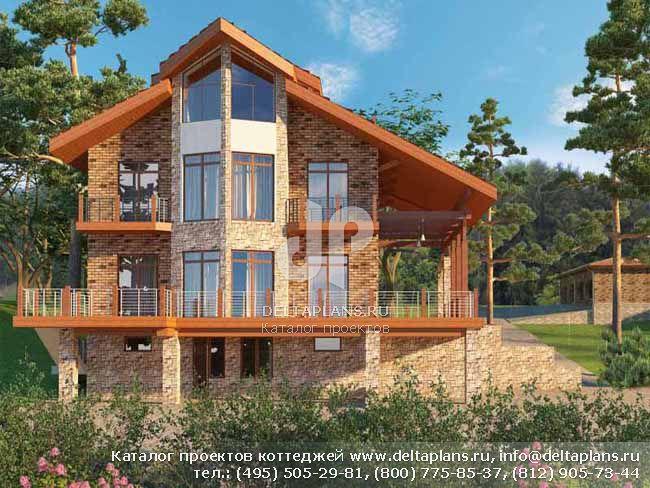 Кирпичный дом. Проект № E-458-1K