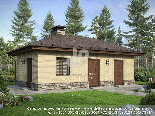Дом из поризованного камня № F-029-1K