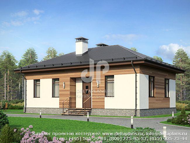 1-этажный дом, проект № F-083-2P