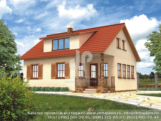 Каркасный дом. Проект № F-128-1S