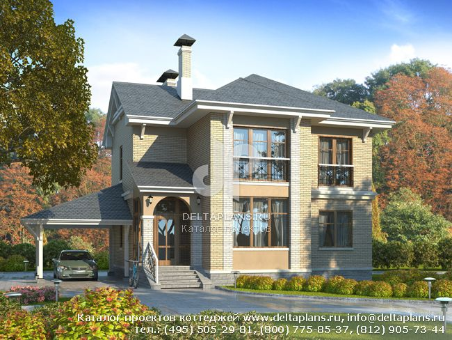 Пенобетонный дом. Проект № F-133-1P