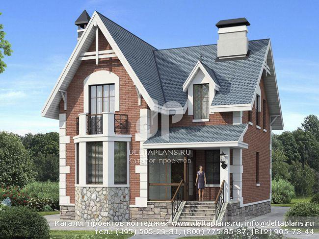 Двухэтажный дом 8 на 10 № F-149-1P