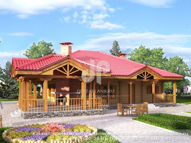 Деревянный дом. Проект № F-150-1D