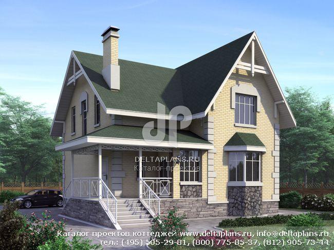 Пенобетонный дом. Проект № F-150-1P