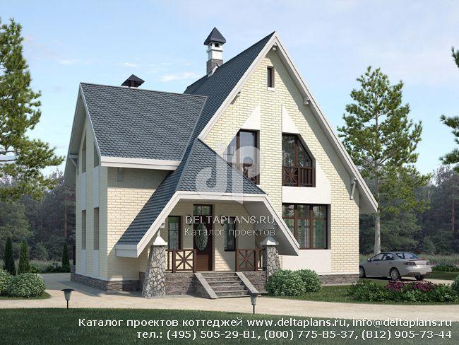 Пенобетонный дом. Проект № F-151-1P