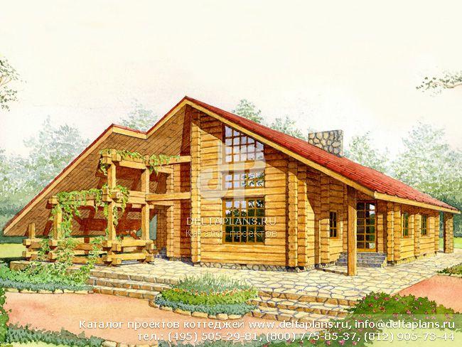 Деревянный дом. Проект № F-152-1D