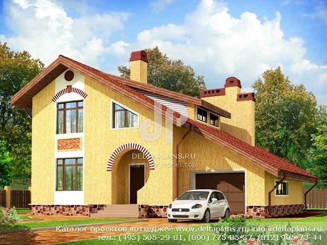 Кирпичный дом. Проект № F-172-1K