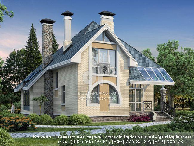 Пенобетонный дом. Проект № F-185-1P