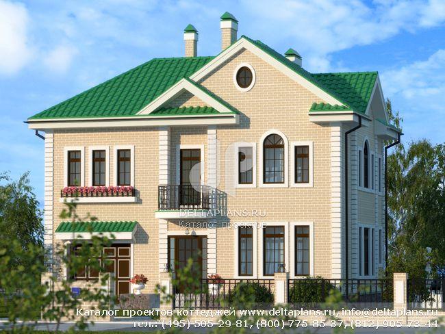 Пенобетонный дом. Проект № F-206-1P
