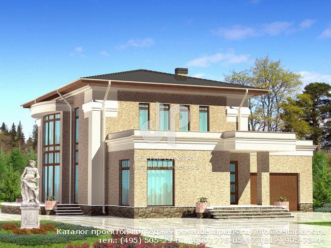 Пенобетонный дом. Проект № F-254-1P