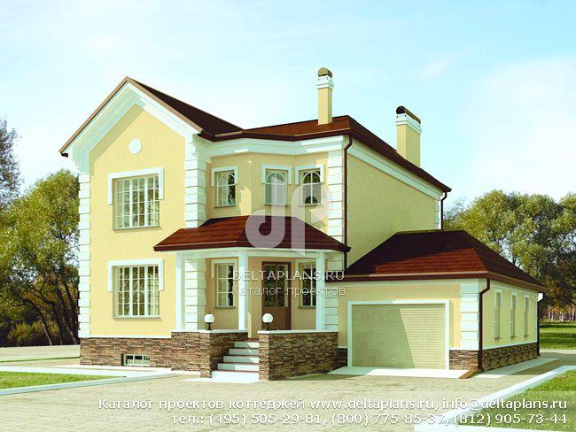 Кирпичный дом. Проект № F-274-1K
