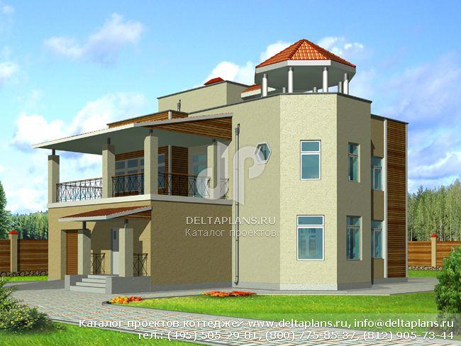 Пенобетонный дом. Проект № F-291-1P