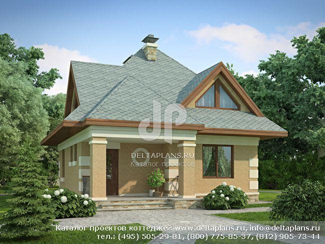 Пенобетонный дом. Проект № G-100-1P