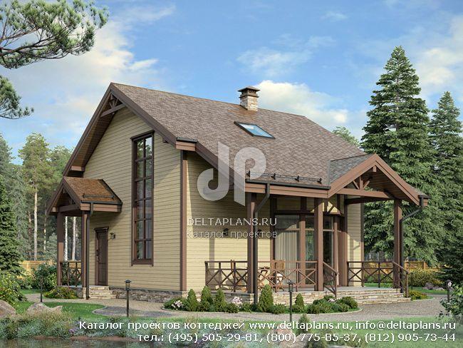 Проект дома деревянный каркас № G-112-1S
