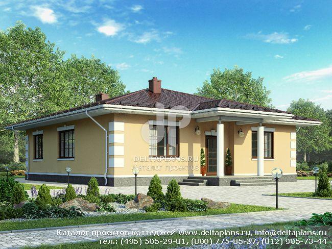 Проект пенобетонного дома № G-121-1P