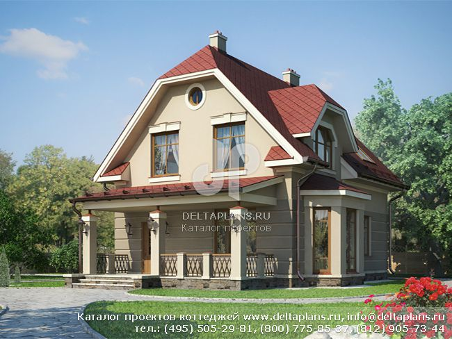 Пенобетонный дом. Проект № G-141-1P