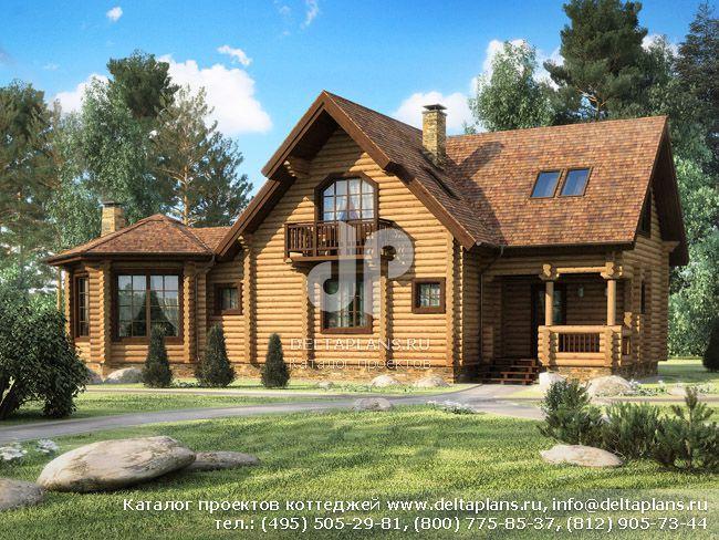 Деревянный дом. Проект № G-181-1D