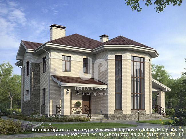 Красивый дом из поризованного камня № G-194-1K