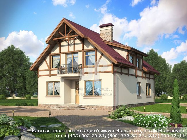 Пенобетонный дом. Проект № G-202-1P